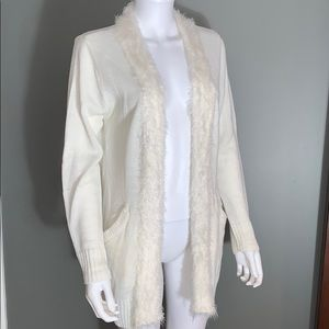 Bleu Ice Womans Cream Cardigan Sweater SZ.L